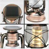 Luz de acampamento solar recarregável da lâmpada de mão do diodo emissor de luz