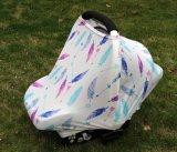 Pabellón suave de Carseat del bebé del modelo colorido de la pluma
