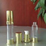 15ml 20ml 30ml 35mlスキンケアのための金空気のないポンプローションのアルミニウム装飾的なびん