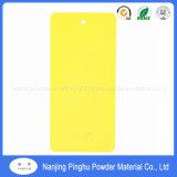 Amarelo brilhante decorativa de pintura por pó
