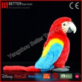 Jouet mou bourré réaliste de perroquet de peluche de Macaw d'oiseau de la qualité En71