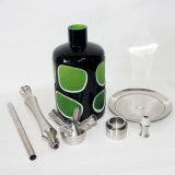 Zink-Legierungs-Huka-Schlauch-Flaschenglas-Filterglocke-Wasser-Rohre mini elektronische Cigarett Glaspfeifevaporizer-Aschenbecher Shisha Huka