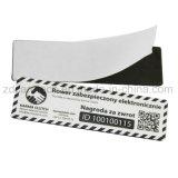 13.56MHz etiqueta anti de papel adhesiva programable del metal NFC