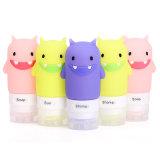 Bottiglia multicolore riutilizzabile compressa di corsa del silicone del mostro per cura personale
