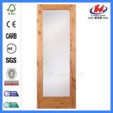 Puerta de cristal de madera interna del oscilación caliente de la prensa (JHK-G01)