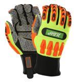 TPR Anti-Impact mécanique des gants de travail avec le PVC Dotting
