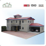 Casa prefabricada del edificio con las decoraciones para la venta