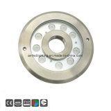 Protección IP68 12X1W/12X2W Fuente RGB LED Lámpara Luz subacuática