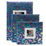 фотоальбом книги крышки ткани 4 '' *6 '' связанный для 200 фотоих