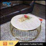 Mobilier haut de marbre ronde Une table à café Table à café haut brillant
