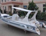 Vendita gonfiabile turistica della barca della famiglia della barca della nervatura di Liya Cina 5.8meter