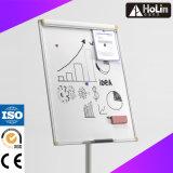 Whiteboard di vetro magnetico mobile per l'ufficio con le macchine per colata continua