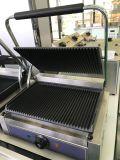 Hot Sale professionnel en acier inoxydable électrique double grille-pain gril contact gril Panini grille-pain pour le commerce de gros