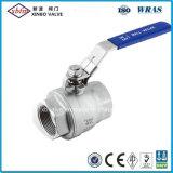 2PC 물 처리를 위한 가벼운 의무 스테인리스 공 벨브