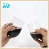 Большое часть стекла вина 10 Oz Tritan дешевое, пластмасса Toasting большое часть каннелюры
