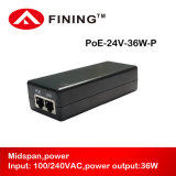 Wireless Aps 24V1.5A Poe Adapter를 위한 24V Poe Injector