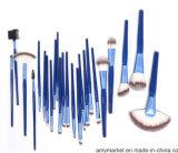 1つの装飾的なブラシキットのナイロンファイバー木製手のすねの青に付き24は袋が付いているブラシを構成する