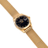 El acero inoxidable de la nueva de manera del reloj del acoplamiento venda de la correa mira los relojes promocionales de lujo del cuarzo de los hombres