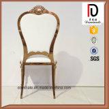 Золотистый уникально новый стул нержавеющей стали конструкции