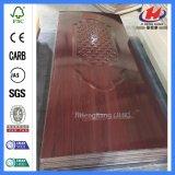 Mosaïque de verre porte en bois de placage de mélamine d'ingénierie de la peau