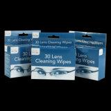 Materiales de papel individualmente las toallitas húmedas para lentes de gafas de teléfono y el equipo Sccreen
