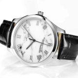Relógio de pulso automático dos homens análogos da alta qualidade ocasional do aço inoxidável