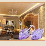 Het in het groot Goedkope Mooie Model van de Zwaan van het Kristal van het Ontwerp voor de Giften van het Huwelijk, BedrijfsGift met Diverse Kleur