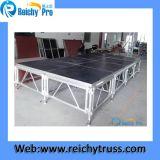 Etapa impermeable de la etapa de la etapa de la etapa simple móvil de aluminio de la etapa