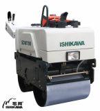 유압 두 배 드럼 도로 쓰레기 압축 분쇄기 기계