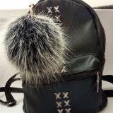 DIYの毛皮袋の魅力ののどの毛皮のKeychainの毛皮POM POM