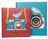 Rose&Papier imprimé bleu couvrir un album photo pour 200 photos