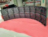 Lo schermo di visualizzazione dell'interno del LED della curva P3.91 con il Angolo-Regolatore riveste 500 * 500 mm/500 * 1000 millimetri di pannelli