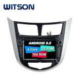 Processeurs quatre coeurs Witson Android 9.0 DVD de voiture GPS pour Hyundai Verna construit en fonction DVR
