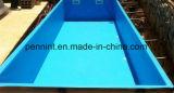 青いファブリック裏付けPVC防水膜/池はさみ金