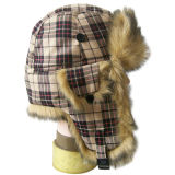 Bouchon de la vente d'hiver chaud avec de la fourrure (VT014)
