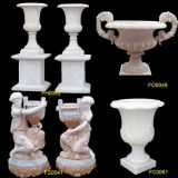 Pote De la Flor de mármol, de mármol tallado Maceta (FH0062, FO0049 FS0041, FC0061)