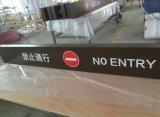 Signe en aluminium de pylône de Wayfinding de répertoire de mail d'étage de la sortie intérieure d'intérieur DEL d'entrée