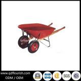 Doppio carrello dello strumento di giardino della carriola Wh9800 del carrello della riga della barra di rotella