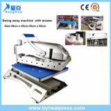 38x38cm Oscilación lejos camiseta prensa del calor de la máquina con el cajón