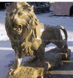 대리석 동물 또는 돌 사자 또는 대리석 사자