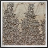 網の刺繍のレースにある調子を与えるナイロンテュルの刺繍のレースの調子
