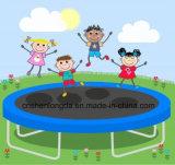 trampolino rotondo di 14FT con 4 piedini a forma di U per il gioco esterno dei bambini