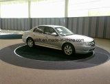 Plataforma de giro ao ar livre e interna da plataforma giratória do carro da garagem de 360 graus