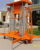 Doppelt-Mast Aluminiumlegierung-Arbeitsbühne