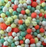 Volume de NPK que mistura o fertilizante granulado