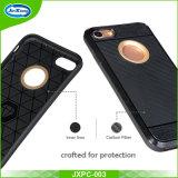Cassa di coperture ibrida robusta pesante di vendita calda dell'armatura per la calotta di protezione posteriore di caso di iPhone 7