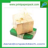 Rectángulo de regalo de papel de empaquetado de los rectángulos de la nueva cinta de encargo de la manera