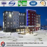 Edificio del hotel de la estructura del marco de acero con el suelo multi