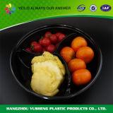 contenitore di alimento di plastica a gettare 3-Compartment con il coperchio libero