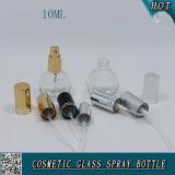 Bouteille de parfum en verre de pompe vide du jet 10ml avec le pulvérisateur de pompe